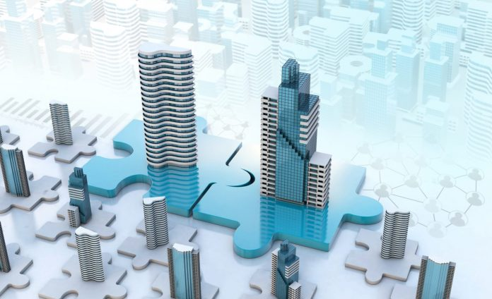 puzzle pieces representing merger of companies